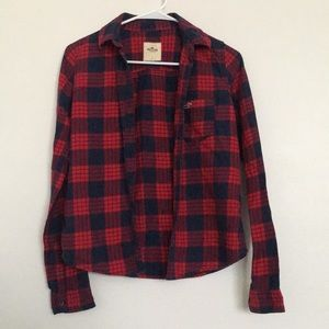 Red and Navy Hollister Flannel